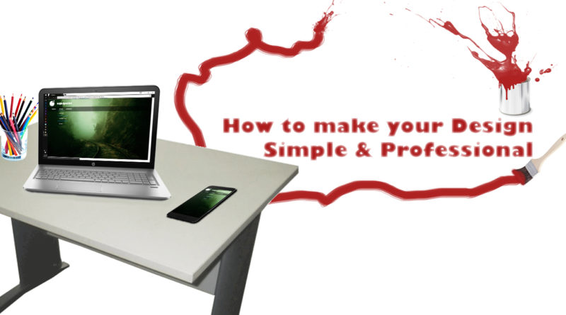 make design simple and professional