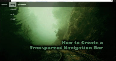 How to Create a Transparent Navigation BAr using HTML & CSS