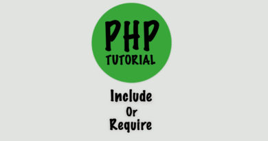 php tutorial include and require