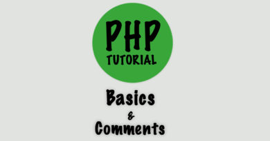 syntax and comments
