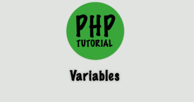 php tutorial variables